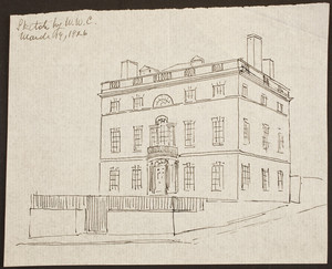 Conjectural restoration sketch of the Harrison Gray Otis House, Cambridge Street, Boston, Mass. March 19, 1926