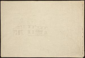 """""""Aspinwall House, Brookline - 1666"""" - From a Sketch."""