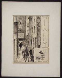 Pi Alley, The Bell in Hand, Boston, Mass., 1890