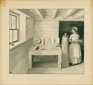 Cellar kitchen, No. 2 Chestnut Street, Salem, Mass., ca. 1915