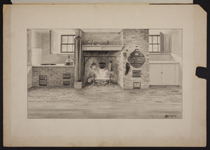 Basement kitchen, No. 2 Chestnut Street, Salem, Mass., ca. 1915