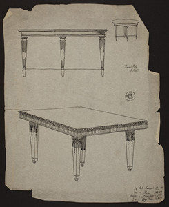 [Tables, square carved - 1730 House.]
