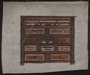 Chest, Carved and Painted - 17th century.