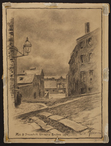 Hull and Snowhill Streets, Boston, 1890