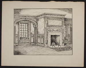 Early New England Interiors. [Gov. John Langdon House library.]