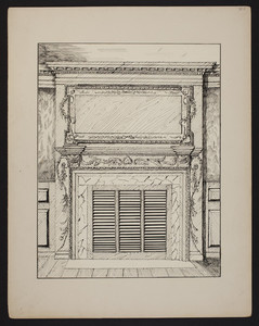 Early New England Interiors. [Gov. John Langdon House parlor chimney piece.]