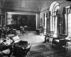 Interior view of the William Stuart Spaulding House, Sunset Rock, smoking room, Prides Crossing, Beverly, Mass., undated