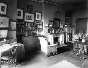Interior view of the James M. Beebe House, bedroom, 30 Beacon St., Boston, Mass., undated