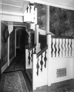 Interior view of Pickering House, corridor, Salem, Mass., undated