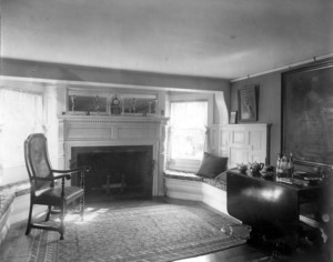 Interior view of Pickering House, dining room fireplace, Salem, Mass., undated