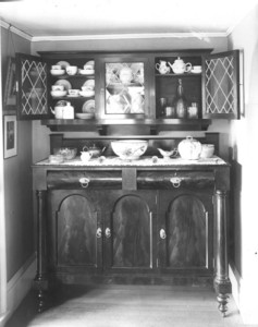 Interior view of Pickering House, dining room sideboard, Salem, Mass., undated
