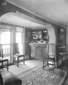 Interior view of Pickering House, dining room alcove, Salem, Mass., undated