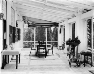 Henry G. Vaughn House, Sherborn, Mass., Porch.