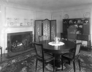 Interior view of the John Lawrence House, dining room, 76 Campmeeting Road, Topsfield, Mass., undated