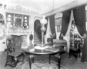 Interior view of Indian Hill, Province House room, West Newbury, Mass., undated