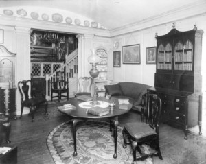 Interior view of Indian Hill, Province House room or Continental Parlor, West Newbury, Mass., undated