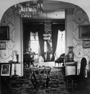 Interior view of Quincy House, parlor, library, 5 Park St., Boston, Mass., 1868-1873