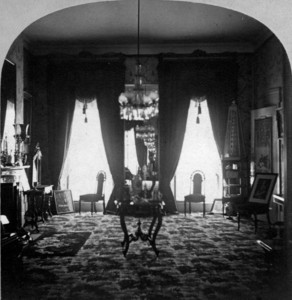 Interior view of the Quincy House, parlor, 5 Park St., Boston, Mass., 1869-1873