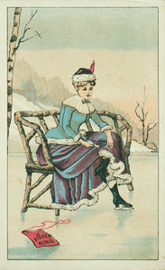 Trade card for Silver King Ice Skates, The Dodge Skate Company, Providence, Rhode Island, undated