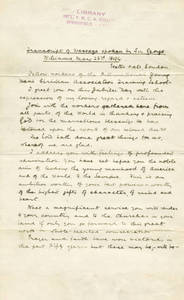 Transcription of Speech by Sir George Williams to the Springfield College Jubilee Class of 1894