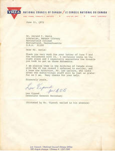 Letter from Les Vepond to Gerald Davis