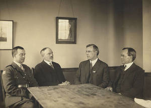 Doggett in a meeting at the City Club in Boston, 1919