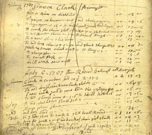 Account book of David Warner