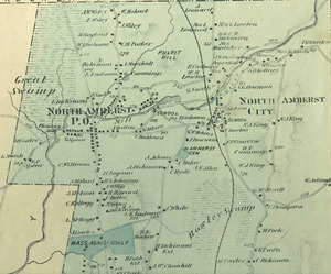 Map of North Amherst, 1873