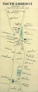 Map of common at South Amherst, 1873