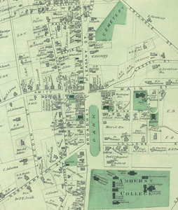Map of Amherst center, 1873