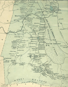 Map of South Amherst, 1873