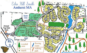 Map of Echo Hill South in Amherst