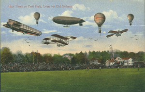 Aerial display over Pratt Field at Amherst College
