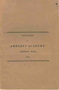 Amherst Academy catalog for 1840
