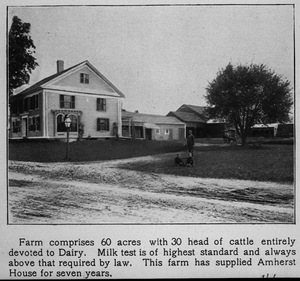 A. E. Hobart's farm on North Pleasant Street in Amherst