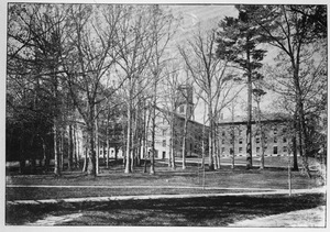 Amherst College campus and grove