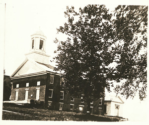 Amherst College Hall without pillars