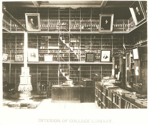 Interior of Morgan Library at Amherst College