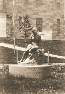 Statue of Sabrina at Amherst College