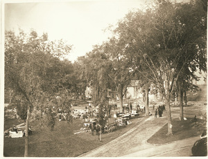 Amherst Town Common after the Amherst House fire