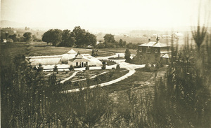 Area view of Durfee Plant House at Massachusetts Agricultural College