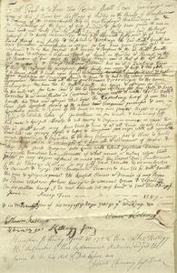Deed of Hadley Third Precinct, June 25, 1747