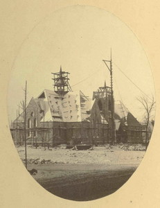 Construction of First Congregational Church in Amherst