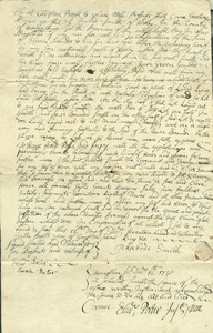Deed of Hadley Third Precinct, December 12, 1730