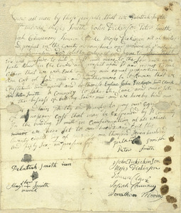 Agreement to build a gristmill