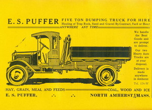 Advertisement for trucking business of Edward S. Puffer