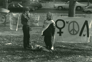 Nuclear disarmament demonstration on Amherst Common