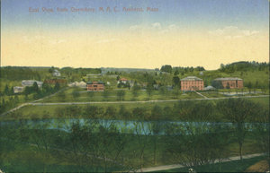 East view from dormitory at Massachusetts Agricultural College