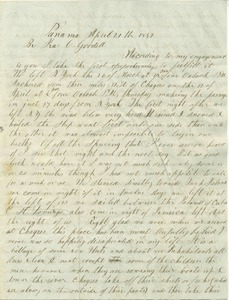 Letter from Nathaniel Dudley Goodell to his brother in Amherst