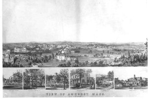 Lithograph of Amherst, 1857
